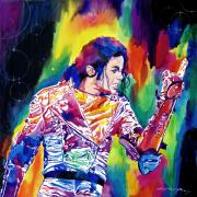 Michael Painting Posters - Michael Jackson Showstopper Poster by David Lloyd Glover