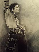 Michael Jackson Mixed Media Framed Prints - Michael Jackson Framed Print by Simone Napier