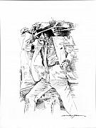 Icons Drawings Originals - Michael Jackson Smooth Criminal by David Lloyd Glover