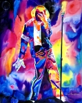 Michael Painting Acrylic Prints - Michael Jackson Sparkle Acrylic Print by David Lloyd Glover