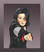 Vocalist Digital Art Originals - Michael Jackson-Tell it like it is by Suzanne Giuriati-Cerny
