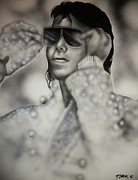 Michael Jackson Mixed Media Framed Prints - Michael Jackson Framed Print by Terrence ONeal