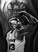 Jordan Art Paintings - Michael Jordan 5 by Mikayla Henderson