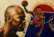 Sports Art Paintings - Michael Jordan by Darryl Matthews