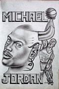 Michael Jordan Double Exposure Print by Rick Hill