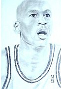 Jordan Drawings Originals - Michael Jordan by Isabelle Watson