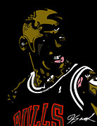 Chicago Bulls Prints - Michael Jordan Print by Kamoni Khem