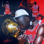 Mj Paintings - Michael Jordan by Luke Morrison