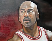 Michael Jordan Painting Framed Prints - Michael Jordan Framed Print by Matt Burke