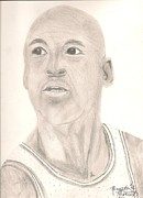 Jordan Drawings Originals - Michael Jordan by Art of the Maverick