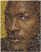 Michael Jordan Money Mosaic Print by Paul Van Scott