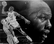 Bulls Drawings Originals - michael Jordan by Raoul Alburg