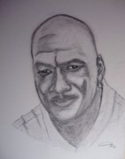 Jordan Drawings Originals - Michael Jordan by Roberto Rivera
