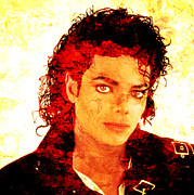 Michael Jackson Canvas Posters - Michael Poster by Juan Jose Espinoza