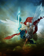 Angelic Metal Prints - Michael Metal Print by Karen Koski