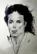 Mj Drawing Drawings Posters - Michael Poster by LeeAnn Alexander