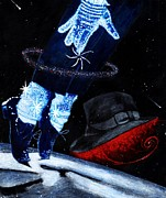 Michael Jackson Art - Michael Magic by Cassandra Allsworth