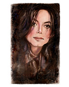 Michael Jackson Mixed Media Prints - Michael Print by Mimi Ogarren
