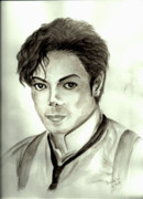 Mj Painting Prints - Michael Print by Nicole Wang