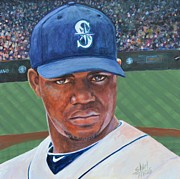 Major League Baseball Painting Prints - Michael Pineda Print by Shirl Theis