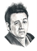 Famous People Drawings - Michael Richards Cosmo Kramer by Murphy Elliott