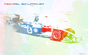 Laguna Seca Framed Prints - Michael Schumacher Framed Print by Irina  March