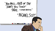 Tv Show Posters - Michael Scott from The Office Poster by Tomas Raul Calvo Sanchez