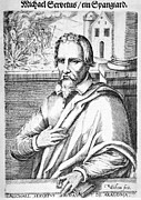 Michael Framed Prints - Michael Servetus, Spanish Physician Framed Print by