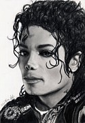 Mj Framed Prints - Michael Still Watches Framed Print by Carliss Mora