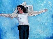 Singer Painting Prints - Michael Print by Vel Verrept