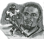Philadelphia Eagles Drawings - Michael Vick by Chris  DelVecchio