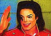 Michael Jackson Digital Art - Michaell Jackson Good Days by Deborah MacQuarrie