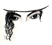 Michael Drawings Framed Prints - Michaels Eyes Framed Print by Melody Anderson