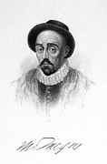 Autograph Framed Prints - Michel Eyquem De Montaigne Framed Print by Granger
