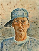 Baseball Cap Painting Prints - Michel Pauze Print by Claire Gagnon