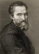 Sculptors Posters - Michelangelo Buonarroti 1475-1564 Poster by Everett