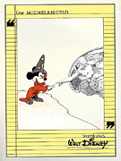 Mouse Mixed Media Posters - Michelangelos Creation of Mickey Poster by Keith QbNyc