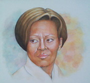 Michele Obama Paintings - Michele Obama by Nasko Dimov