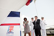 Michelle Obama Art - Michelle Obama Christens The Us Coast by Everett
