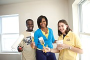 Community Service Prints - Michelle Obama Joins A United We Serve Print by Everett