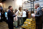Michelle Obama Volunteers For Feeding Print by Everett