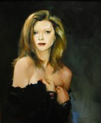 Realism Framed Prints - Michelle Pfeiffer Framed Print by Tigran Ghulyan