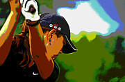 Michelle Wie Print by Pascale Vandewalle