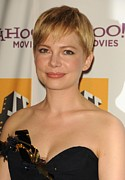 Gold Trim Prints - Michelle Williams At Arrivals For 15th Print by Everett