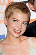 Natural Makeup Posters - Michelle Williams At Arrivals For My Poster by Everett