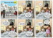 Barack Obama Framed Prints - Michelles Crisis  Framed Print by Kevin  Marley
