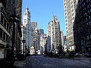 Chicago Digital Art Metal Prints - Michigan Ave wide Metal Print by Anita Burgermeister