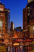 Michigan Avenue Prints - Michigan Avenue Bridge Print by Donald Schwartz