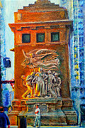 Chicago Paintings - Michigan Avenue Bridge by Michael Durst
