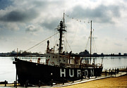 Port Huron Posters - Michigan Lake Huron - The Huron Lightship  Poster by Kathy Fornal